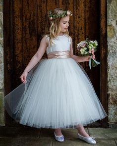 Blush Flower Girl Dresses, Flower Girl Tutu, Girls Bridesmaid Dresses, Girls Dresses, Wedding Dresses, Long Dresses, Tutus For Girls, Tulle Dress, Special Occasion Dresses