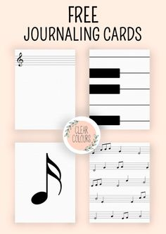 Free Project Life style Journaling Cards: Music themed