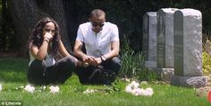 whitney houston gravestone pictures | ... step brother and then she makes an emotional visit to Whitney's grave