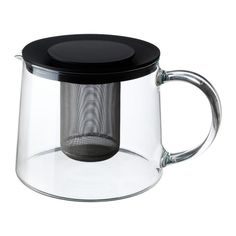 Gifts Under $20 - RIKLIG glass teapot. The tea strainer is built in - a tea lover's dream.