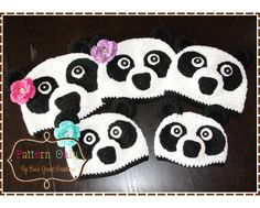 Panda Hat Crochet Pattern  AMANDA & PAUL  by EmieGraceCreations,
