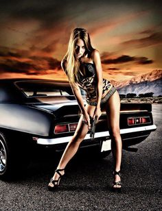 Girl, Gun, and a Camaro. What more could you ask for?