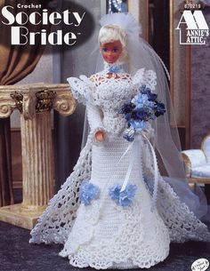 Image detail for -... bride barbie annie s attic dress for fashion dolls crochet pattern