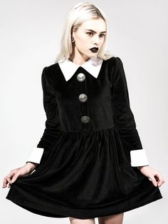 Disturbia Kleid ROSEMARY VALOUR DRESS Schwarz S