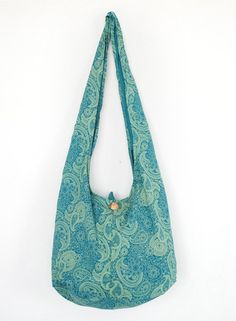 Turtle Hobo Shoulder Bag Sling Cross body Bag Hippie Yoga Travel bag Turquoise