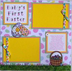 BABY'S FIRST EASTER  One12X12 Premade Scrapbook Page