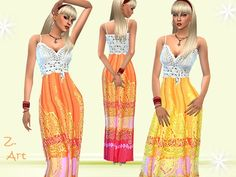 Hippie Style outfit by Zuckerschnute20 at TSR via Sims 4 Updates