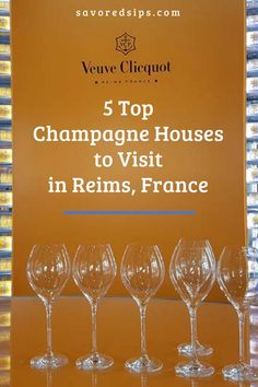 5 Fantastic Champagne Tours in Reims, France Paris Travel, France Travel, Travel Europe, Champagne Region France, Best Champagne, Champagne Glasses, Loire Valley France, Houses In France, Tours France