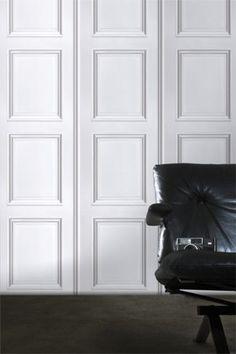 Classical Panelling Wallpaper - Koziel