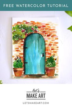 Watercolor Flowers Discover Rustic Doorway Watercolor Kit Paint your own European get away with this Rustic Doorway watercolor supply kit and free step by step tutorial. Learn basic techniques as you paint your way to relaxation. Watercolor Projects, Watercolor Drawing, Watercolor Illustration, Watercolor Trees, Watercolor Landscape, Abstract Watercolor, Watercolor Animals, Watercolor Background, Watercolor Portraits