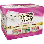 Fancy Feast Gourmet Chicken Feast Variety-Pack Cat Food, 3 oz, 24-Pack(Pack of 3) *** Click image for more details. (This is an affiliate link) #Kitty