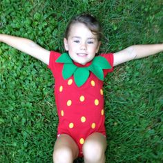 Strawberry Kids Costume Food Onesie by TheWishingElephant on Etsy