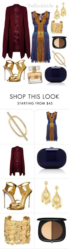 """""""M MISSONI Fringed Crochet Knit Dress"""" by thebaublelife ❤ liked on Polyvore featuring Elizabeth and James, M Missoni, WithChic, Jeffrey Levinson, Giuseppe Zanotti, Jose & Maria Barrera, Aurélie Bidermann, Marc Jacobs, Givenchy and fringe"""