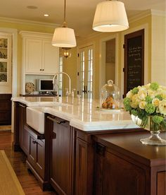 Marble Countertop. I love this beautiful marble kitchen countertop. #Marble #Kitchen #Countertop