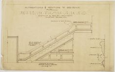 Elevation of stairs