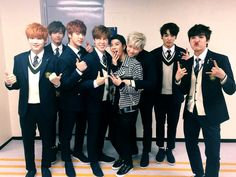 Jackson (GOT7) with BTS