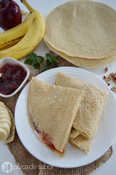 Masa de crepas de avena saludables www.pizcadesabor.com