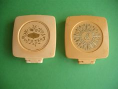 Pond's Angel Face Natural Chesebrough Made in Canada Vintage Compact Makeup 2 PC | eBay