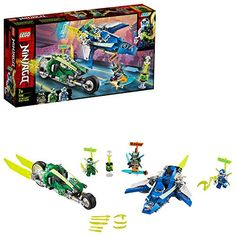 Shop LEGO Ninjago Jay and Lloyd's Velocity Racers 71709 at Best Buy. Find low everyday prices and buy online for delivery or in-store pick-up. Moto Ninja, Ninja Bike, Figurines D'action, Ninjago Jay, Lego Ninjago Movie, Ninjago Games, Lego Disney, Lego Sets, Evil Children