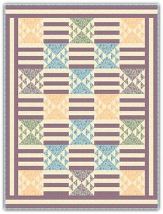 """This free quilt pattern is called """"Edith's Grand Entrance"""". So pretty!"""