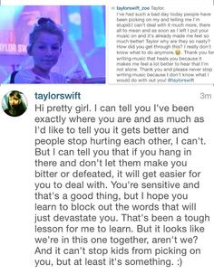Why Taylor is great <3 I follow that girl ..
