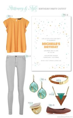 Stationery & Style: Birthday Party Outfit