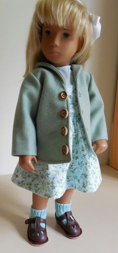 Coat Skirt Blouse for Sasha Doll by karensyarn on Etsy