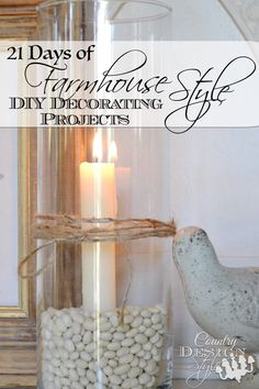 21 DIY FARMHOUSE STYLE decorating challenge. PLUS instant access to 13 Basic Decorating Principles, Decorate for the way you live. Country Design Style