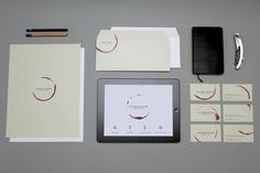Creative Brand Design  Montreal, Canada-based graphic design studio CASERNEcreated a custom visual identity for Mylène Poisson, sommelière. To make it unique, they used a wine glass to stamp each item.  via: WE AND THE COLORFacebook//Twitter//Google+//Pinterest