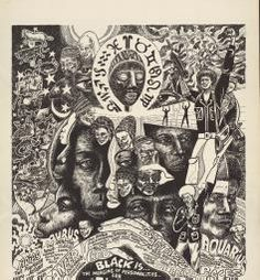 Political Posters, Labadie Collection, University of Michigan: Black is the merging of personalities for Freedom