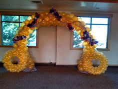 The Elegant Arch  - dressed as a cinderella carriage.  #Greeley West Prom 2013 Created by Merry Makers & Decorators