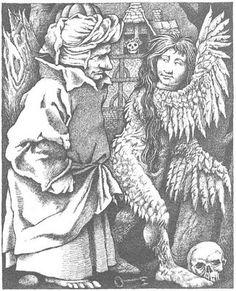 Illustration for Fitcher's Bird by Maurice Sendak