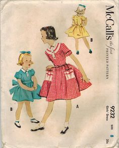 1950s McCall's 9232 Vintage Sewing Pattern by midvalecottage