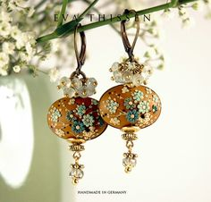JAIPUR. Gorgeous handmade polymer clay earrings. Made to order.. $68.00, via Etsy.