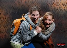 couple of scream queens form this past weekend losing their s*** inside nightmares fear factory. www.Nightmares Fear Factory.com niagara falls scary scariest and best haunted house attraction.