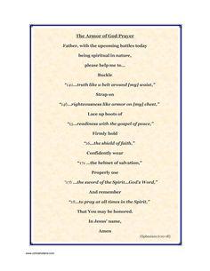 armour of god prayer | The Armor of God Prayer | cchrisholland