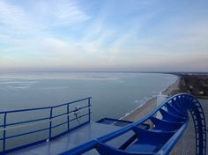 A view of Lake Erie from NEW for 2013 GateKeeper at @Cedar Point