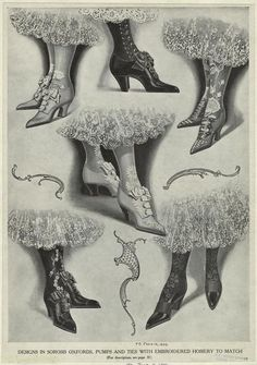 oxfords, pumps, & embroidered hosiery to match? those were the days.