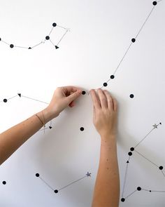Sticker Star Wall Constellation via A Subtle Revelry great for kids bedroom