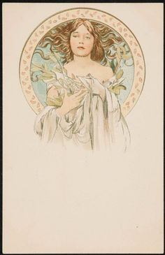 Alphonse Mucha, Cover for the Magazine Cocorico N.19, 10.05/1899, Color lithograph on card stock, 14 x 8,9 cm, Museum of Fine Arts, Boston