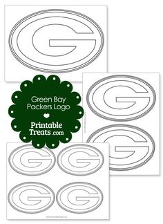 Printable Green Bay Packers Logo Template from PrintableTreats.com