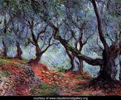 Grove of Olive Trees at Bordighera - Monet