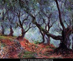 Grove of Olive Trees at Bordighera - Monet