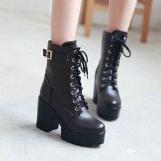 Korean fashion high-heeled boots Shoes yv2144
