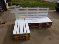 Pallet Furniture Sectional Bench on Krrb. $375