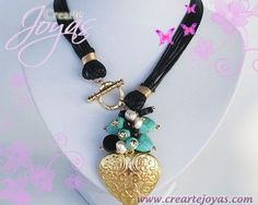 Collar 6 Cueros Coraz�n Godfilled