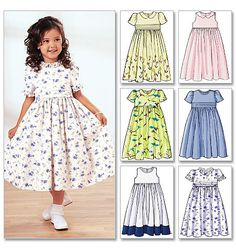 GIRLS DRESS PATTERN / Many Styles in Sizes 2 To 5 by WhatCameFirst, $6.99