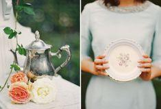 Tea party do vintage para suas damas de honra / Caitlin Turner Fotografia