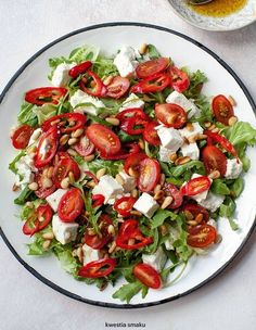 Healthy Salad Recipes, Raw Food Recipes, Cooking Recipes, Healthy Cooking, Healthy Eating, Fancy Salads, Plats Healthy, Best Food Ever, Chili