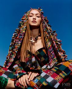 Fall Winter 2018 collection is a series of patchwork designs inspir. Fall Winter 2018 collection is a series of patchwork designs inspired by multi-ethnic costumes and urban gr Young Models, Female Models, Photography Women, Fashion Photography, Gigi Hadid Photoshoot, Harley Weir, Fashion Advertising, Young Designers, Famous Models